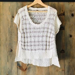 Free People loose weave sweater top